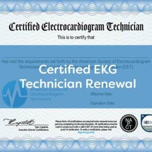 ASET EKG Certification Renewal